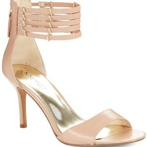 🎁 FREE w/ BUNDLE NINE WEST Nude Strappy Heels